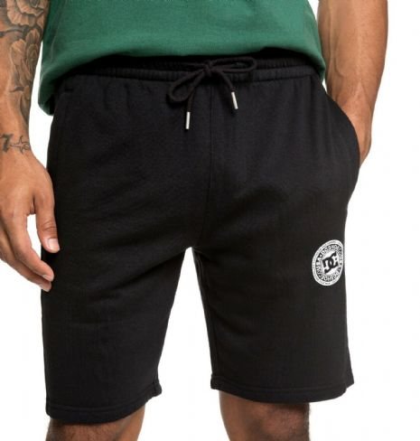 DC SHOES MENS SHORTS.NEW REBEL BLACK FLEECE JERSEY JOGGING GYM SHORTS 9S 64 KVJO